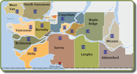 Covert Security Vancouver, Metro Vancouver & GVRD Map